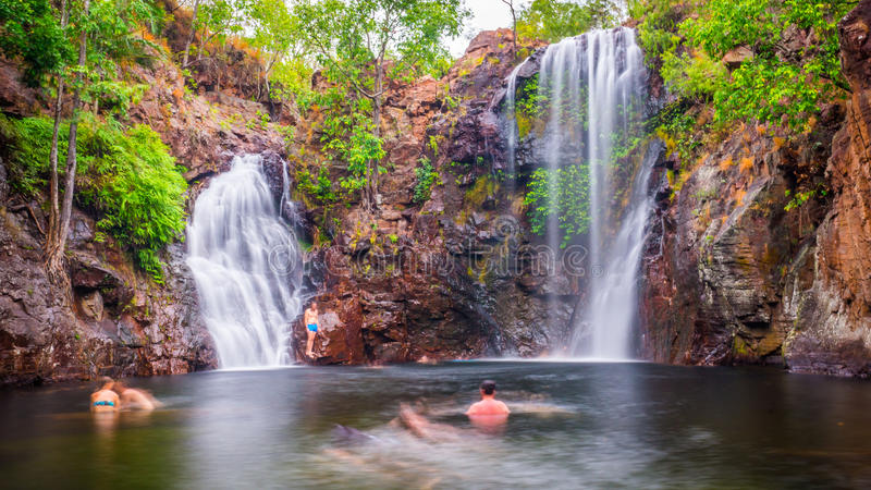 Florence Falls in Litchfield National Park stock photo