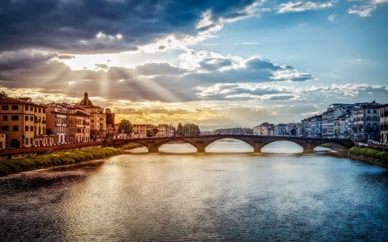 Florence Firenze en el final del día fotografía de archivo libre de regalías