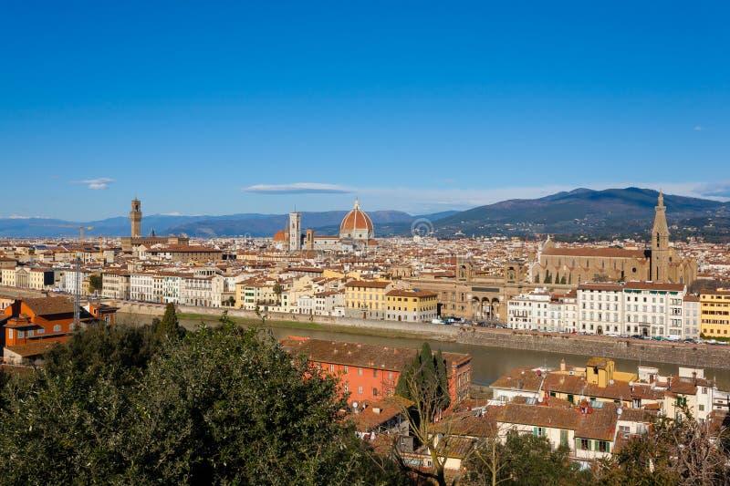 Florence flyg- sikt, tuscany, Italien royaltyfria bilder