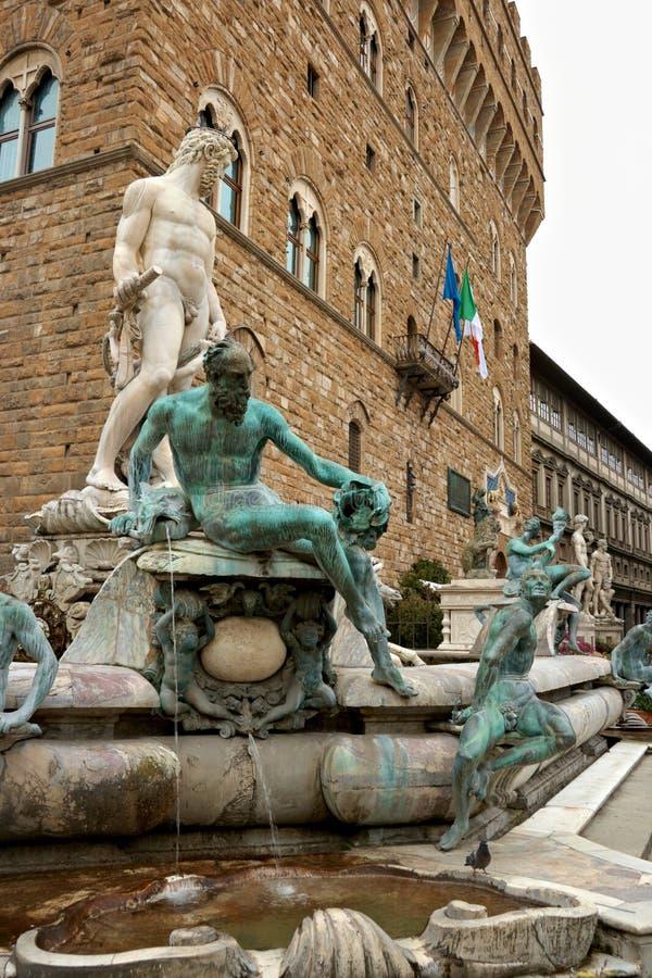 florence fontanna Italy Neptune fotografia royalty free