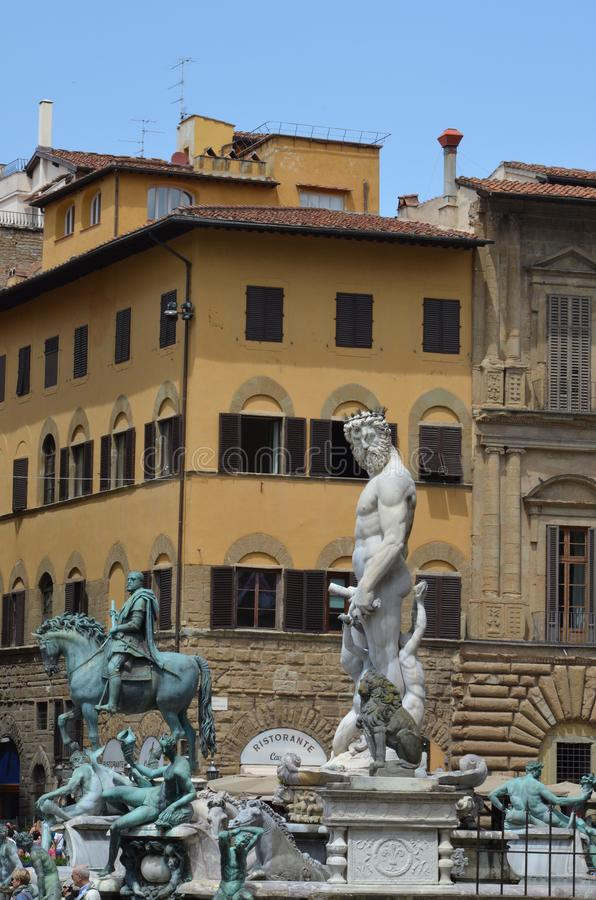 florence fontanna Neptune obrazy royalty free
