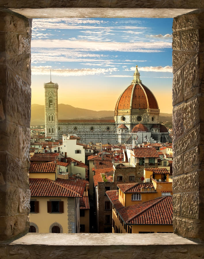 Free Florence From Window Royalty Free Stock Image - 78196126