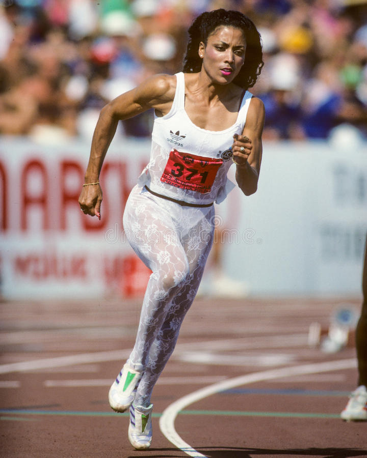 Florence Griffith Joyner fotos de stock
