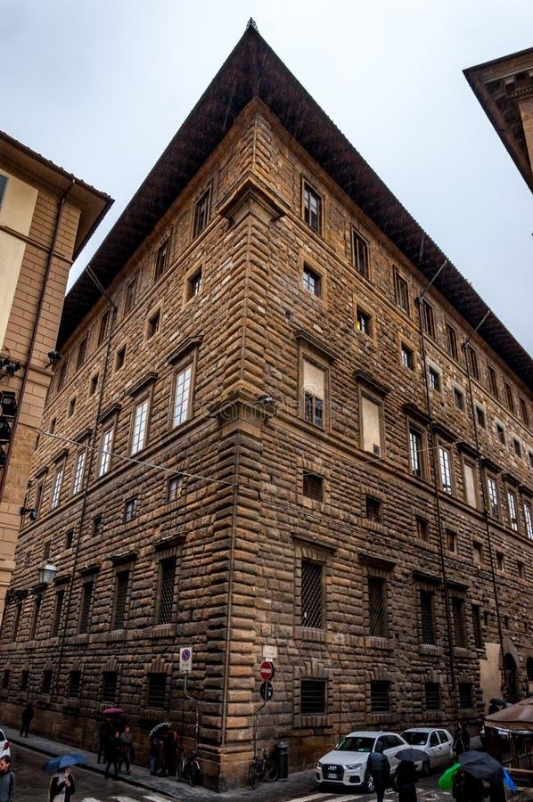 Florence, Italië - 28 Dec, 2017 - de Mooie oude bouw in t royalty-vrije stock afbeelding