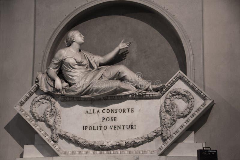 Florence Italien - September 08, 2017: Kyrka av Santa Maria Novella Inre och arkitektoniska detaljer av Santa Maria Novella royaltyfria foton