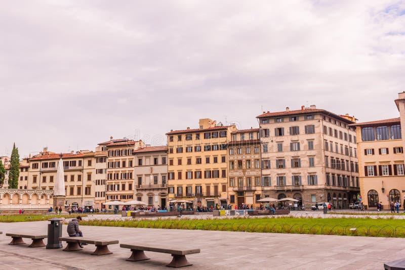 31 10 2018 Florence, Italien - sikt på fyrkanten av Santa Maria Novella fotografering för bildbyråer