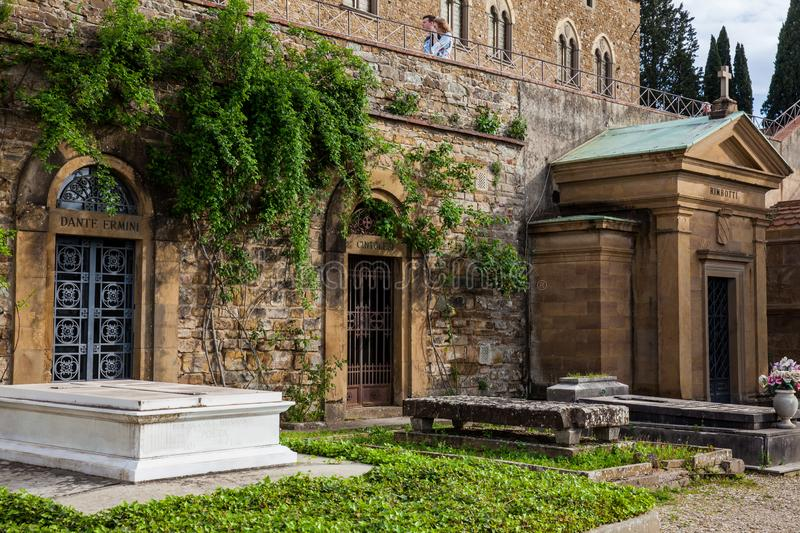 Cemetery of the Holy Door a monumental cemetery located within the fortified bastion of the Basilica of San Miniato al Monte in F stock photography