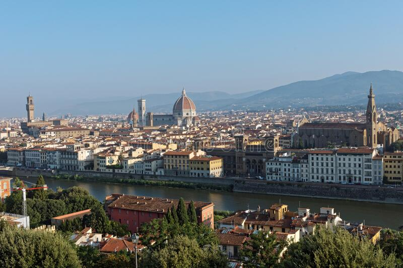 Cityscape of Florence, Tuscany, Italy stock images