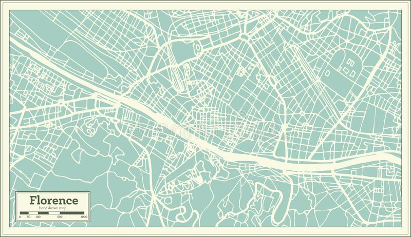 Florence italy city map in retro style outline map stock vector download florence italy city map in retro style outline map stock vector illustration thecheapjerseys Choice Image