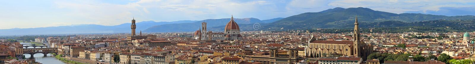 Florence Italy Incredible Stitched Panorama royalty-vrije stock fotografie