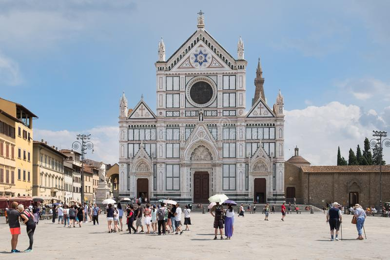 The Basilica di Santa Croce in Florence royalty free stock photo
