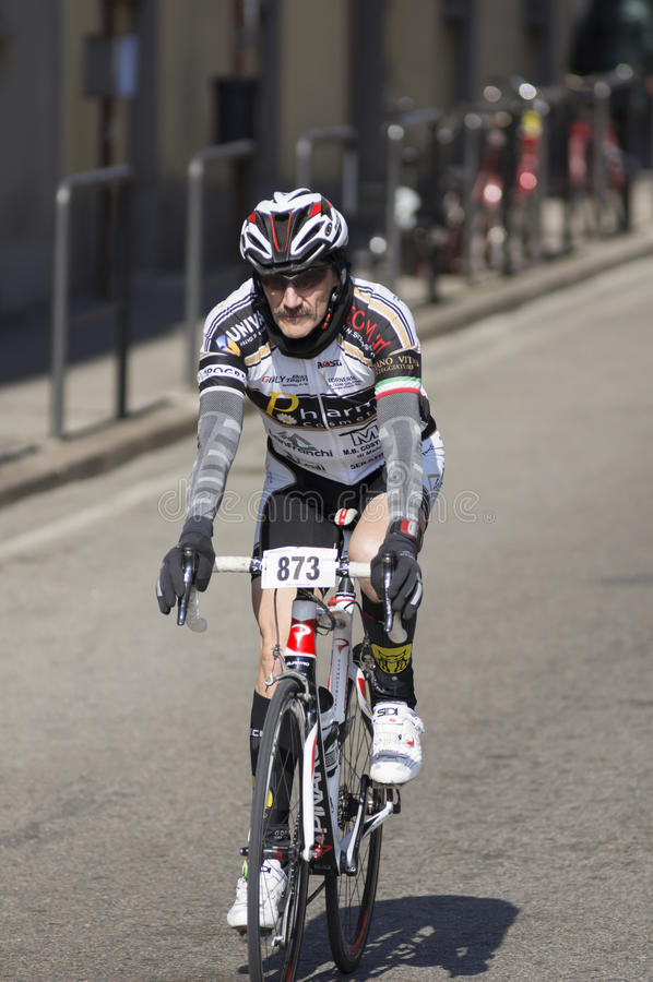 Download FLORENCE, ITALY - MARCH 2: Competitor During The Granfondo Firenze DeRosa Race Editorial Photography - Image: 29608232