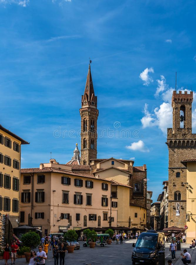 The Piazza of San Firenze, in Florence royalty free stock photos