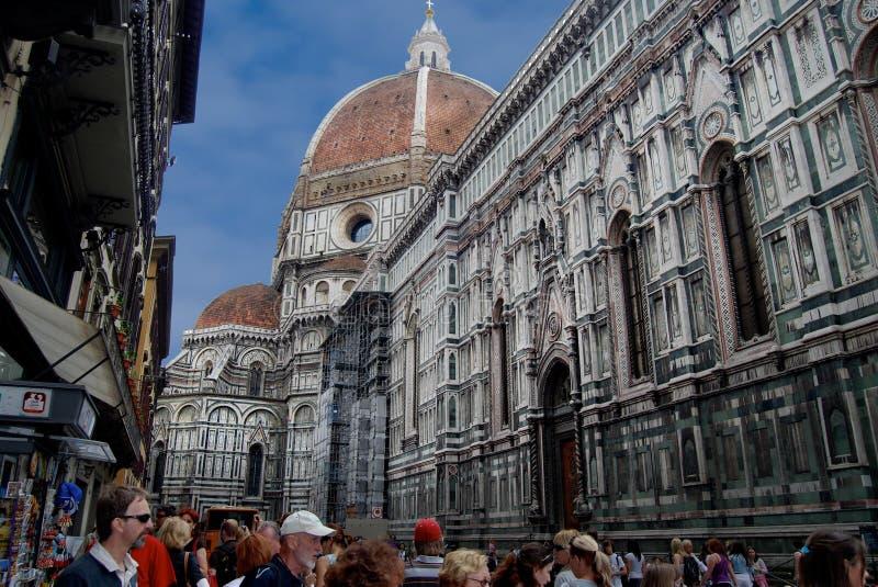 Florence Italy Medieval Gothic Style kyrkatorn royaltyfri foto