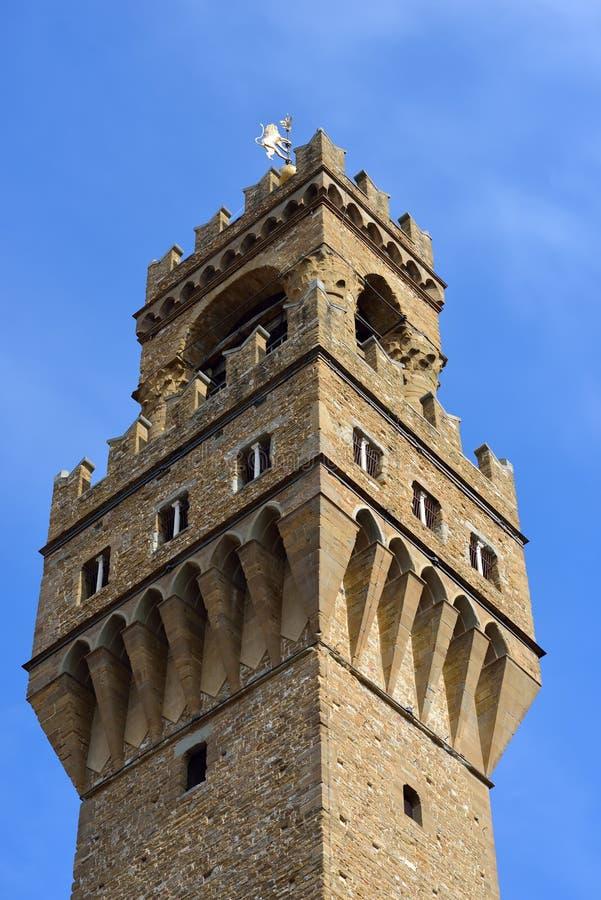 florence italy Palazzo della Signoria arkivbild