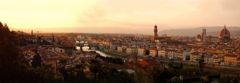 florence italy panorama royaltyfri foto