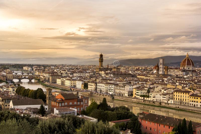 Florence, Italy. Panoramic view royalty free stock images