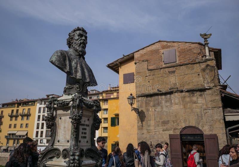 Florence, Italy tourists on Porte Vecchio. Florence Italy tourists walking on Porte Vecchio stock images