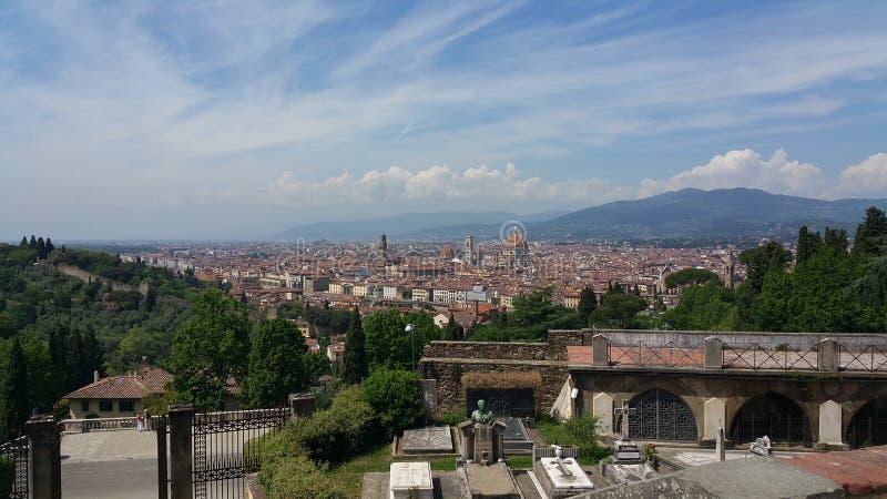 Florence landskap arkivfoton