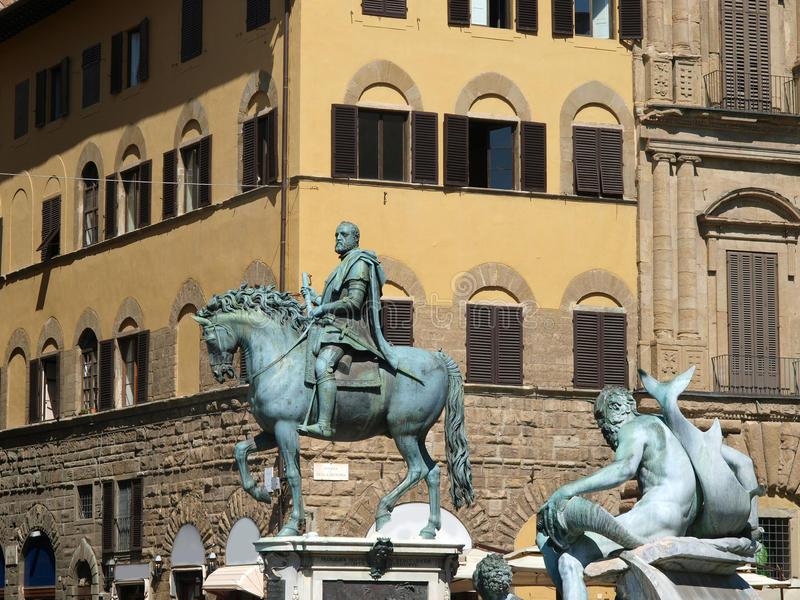 Florence - le della Signoria de Piazza photo libre de droits