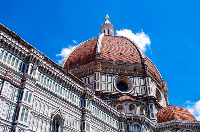Florence of Florence, mening van mooie koepel van Basiliek Santa Maria del Fiore, Brunelleschi royalty-vrije stock afbeeldingen