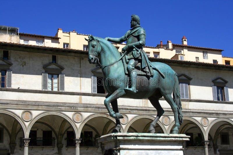 Florence monument av Ferdinand de Medici arkivbilder