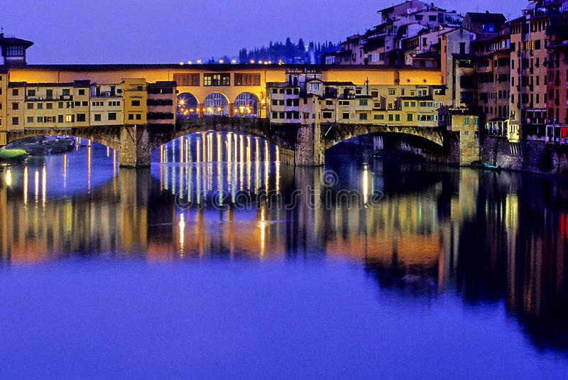 Florence mostu Włoch fotografia stock