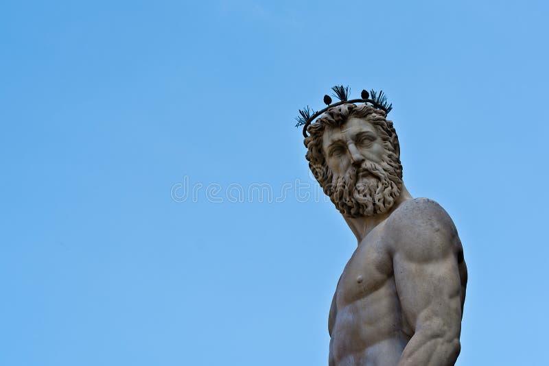 florence neptune staty royaltyfria bilder