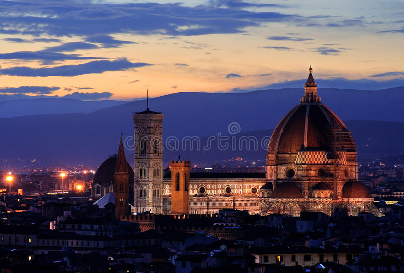 Florence by night royalty free stock images