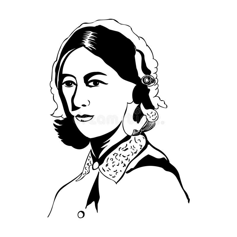 Free Florence Nightingale.Vector Portrait Of Florence Nightingale Royalty Free Stock Photography - 115133047