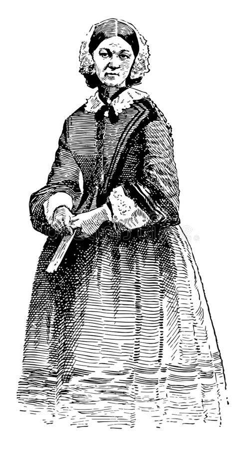 Free Florence Nightingale, Vintage Illustration Stock Image - 163232691