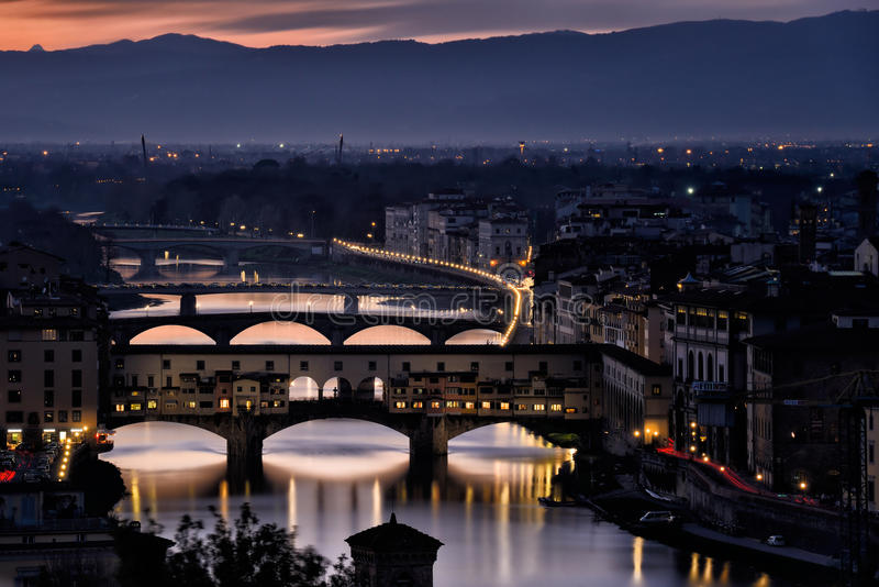 Florence Old Bridge XII fotografia stock libera da diritti