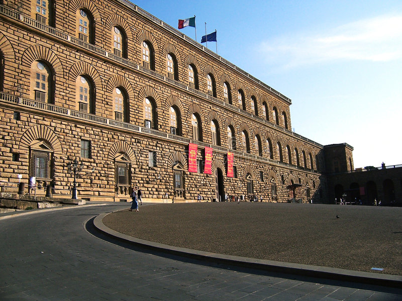 Florence-Palazzo Pitti stock photo