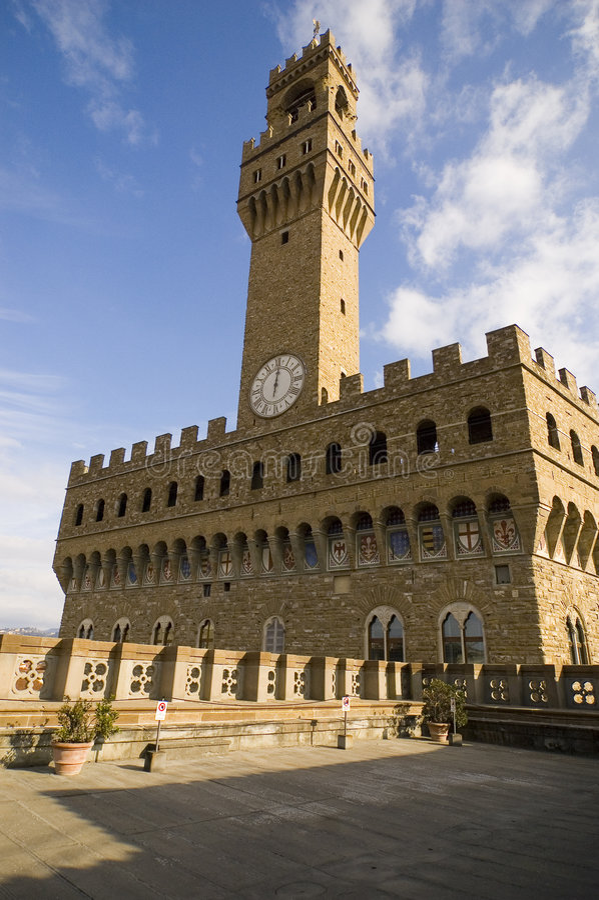 Florence palazzo signoria budynku. fotografia royalty free