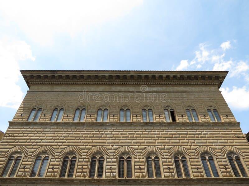 Florence, Palazzo Strozzi (XV Century) royalty free stock photo