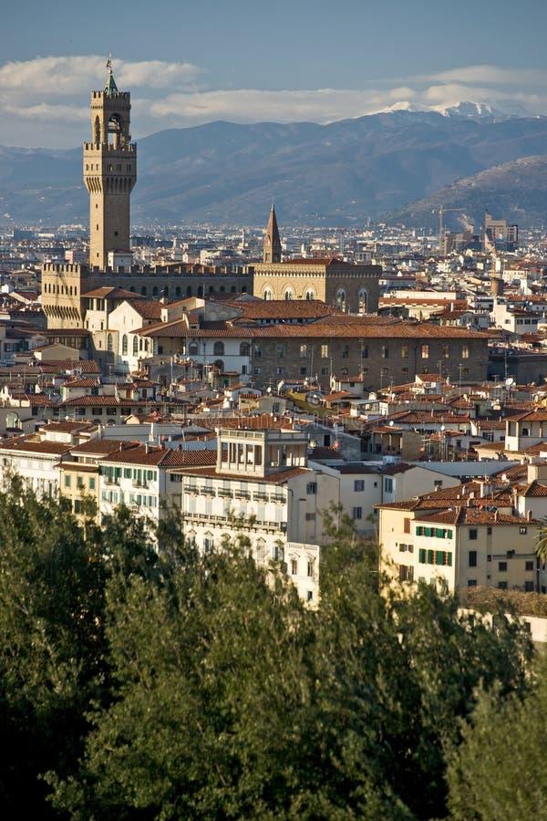Florence, Palazzo Vecchio, piazza della Signoria. royalty free stock photography