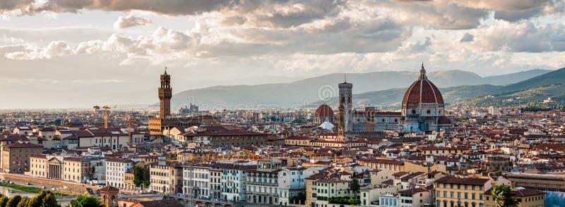 florence panorama- sikt arkivfoto