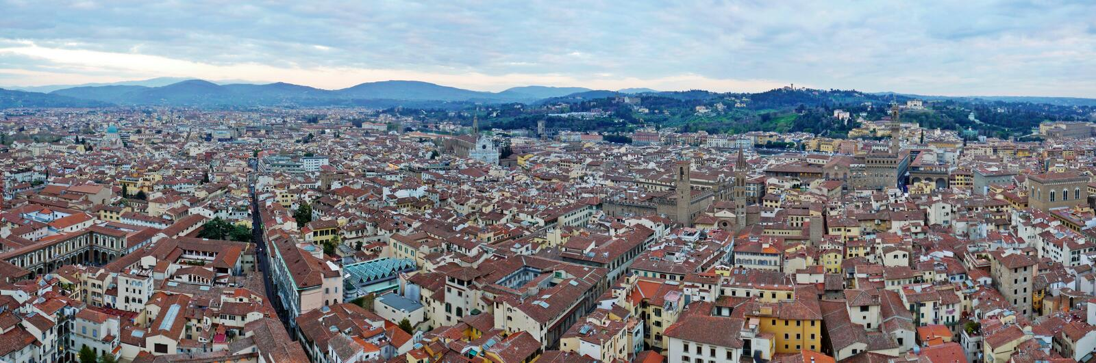 Florence panoramic stock photo