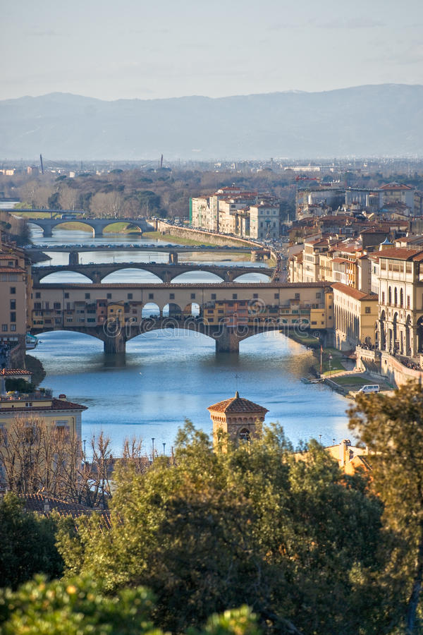 florence panoramiczny ponte vecchio widok obraz royalty free