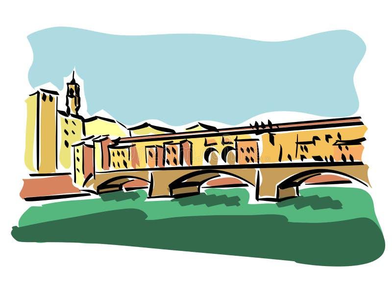 Florence (Ponte Vecchio) illustration stock