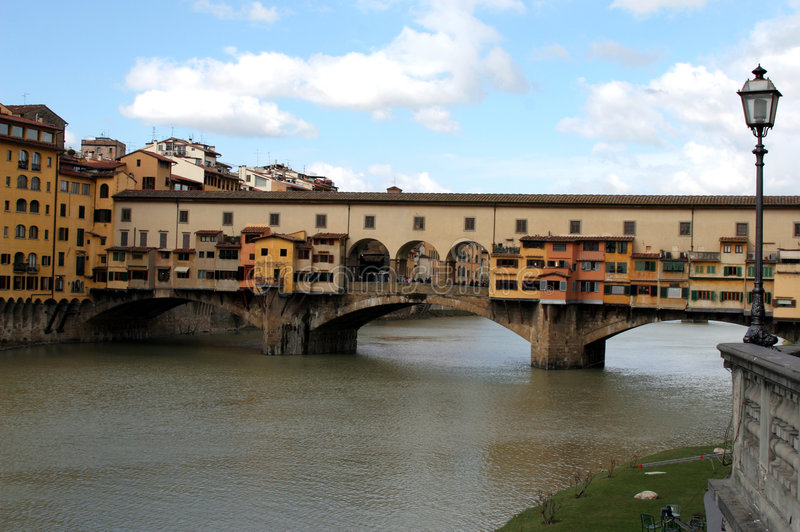 Florence. The Ponte Vecchio stock image