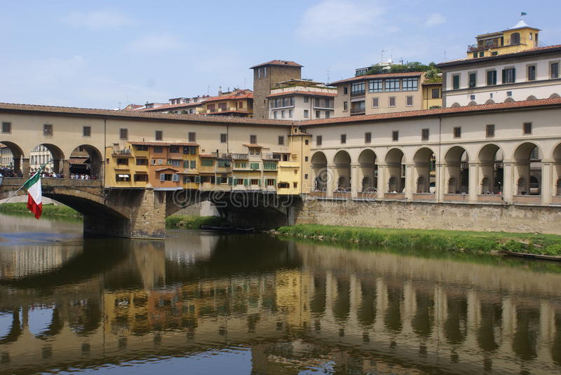 FIRENZE - Florence river landscape royalty free stock images