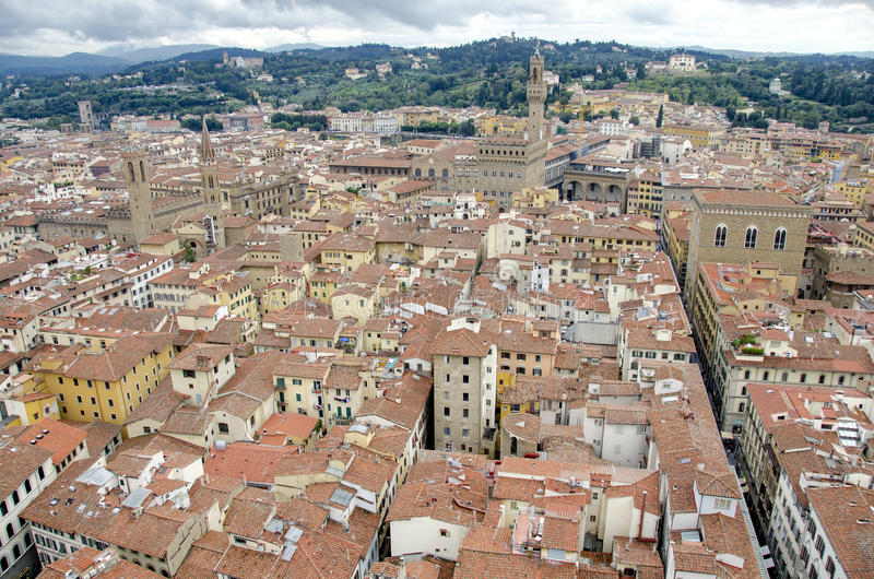 Download Florence, Roof top view stock image. Image of duomo, medieval - 29485443