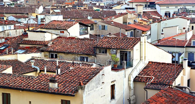 Florence rooftops stock photography