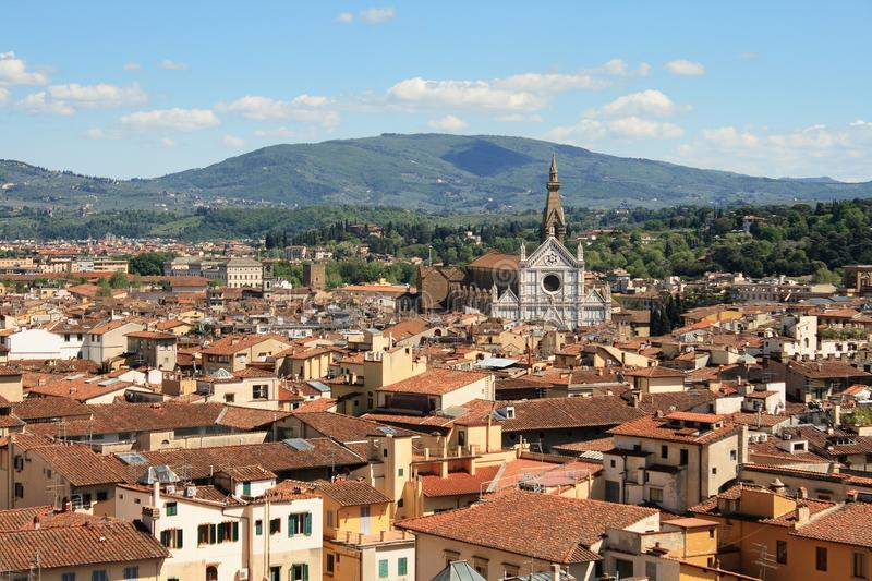 Florence and the Santa Croce royalty free stock photo