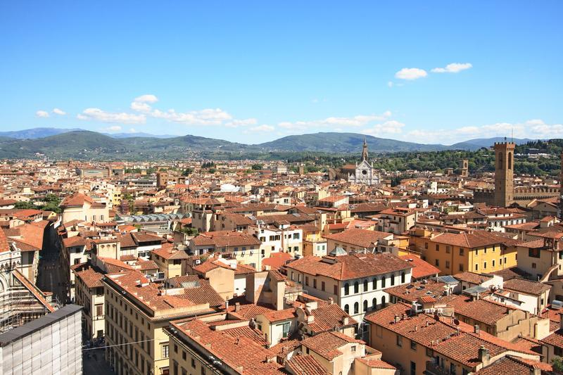 Florence and the Santa Croce royalty free stock photos