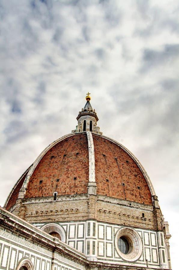 Florence: Santa Maria del Fiore Dome HDR royalty-vrije stock afbeeldingen