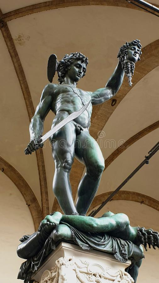 Florence Signoria Square Statues royalty free stock image