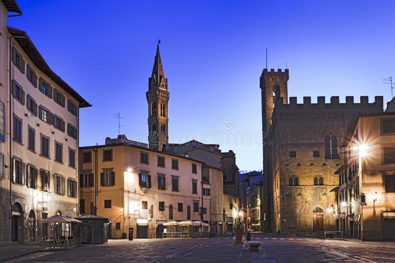 Florence Streets Dawn royalty-vrije stock afbeelding