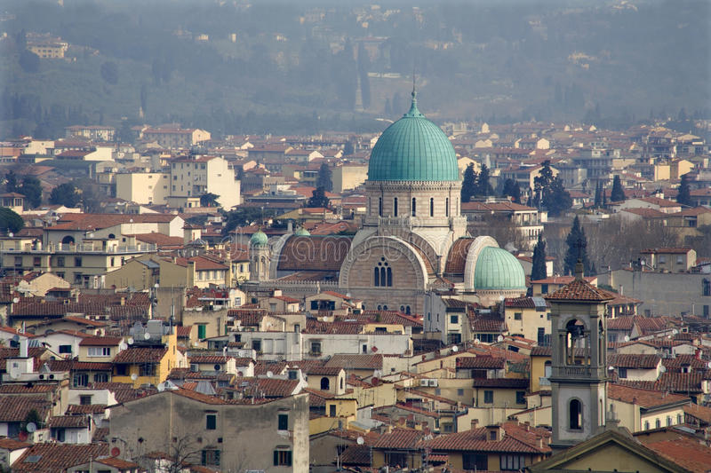Download Florence - Synagogue Cupola Stock Photo - Image of outlook, evening: 14861672